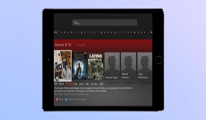 Netflix's search bar